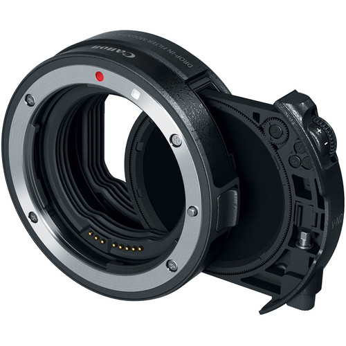 canon EF-EOS R mount with drop-in filter slot