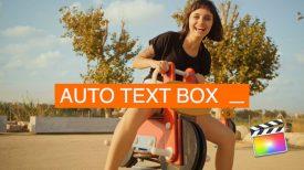 Auto Text Box for Final Cut Pro