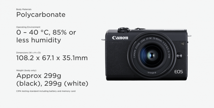 Canon announces the EOS M200