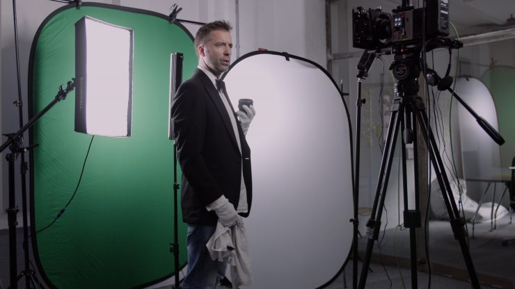 VFX closeup Greenscreen setup