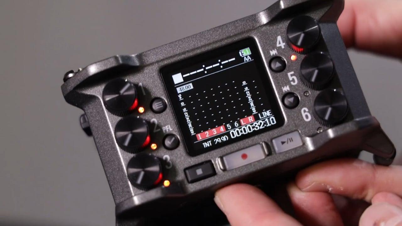 Zoom F6 audio monitor/recorder