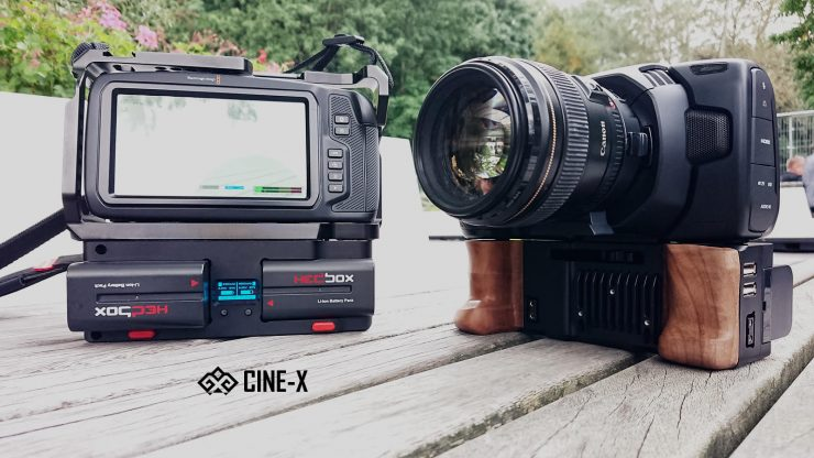 CINE-X Battery grip for the BMPCC 6K & 4K