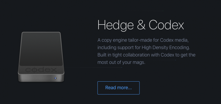 Hedge now supports Codex Media