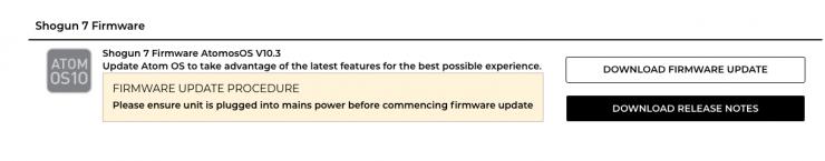 Atomos Shogun 7 Firmware Update