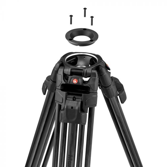 video tripods manfrotto 645 ftt mvttwinfc 75mm adapter