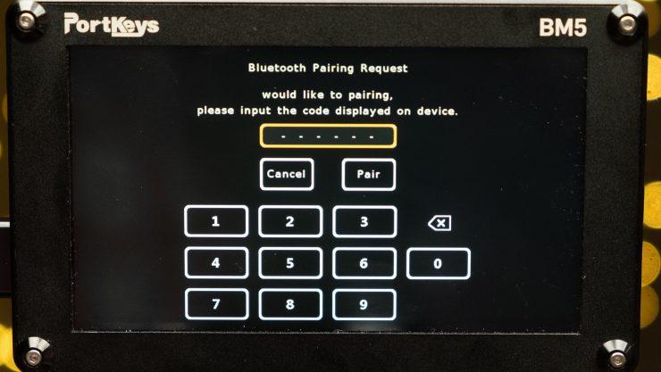 Portkeys Bluetooth Module BM5 screen for code