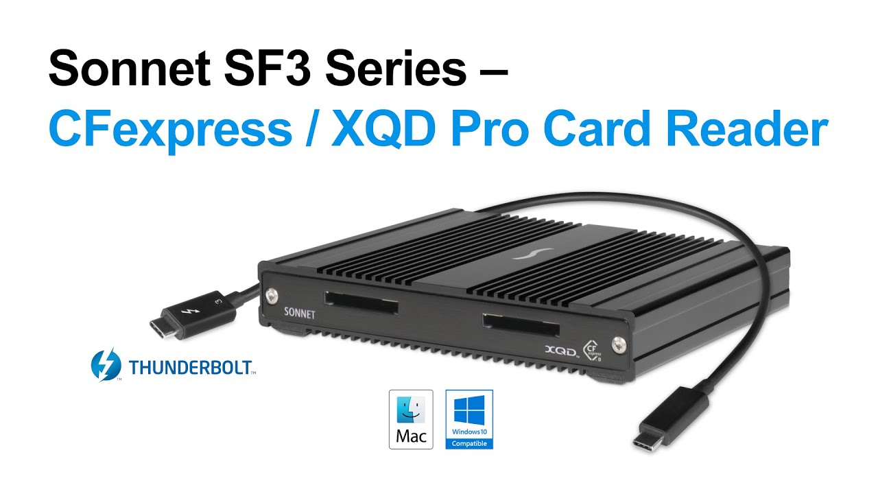 Sonnet Professional Dual-Slot Thunderbolt 3 Card Reader for CFexpress 2.0 Type B & XQD Media