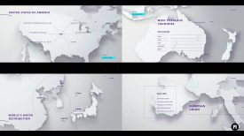 World In Numbers Modular Template for Apple Motion FCPX MotionVFX
