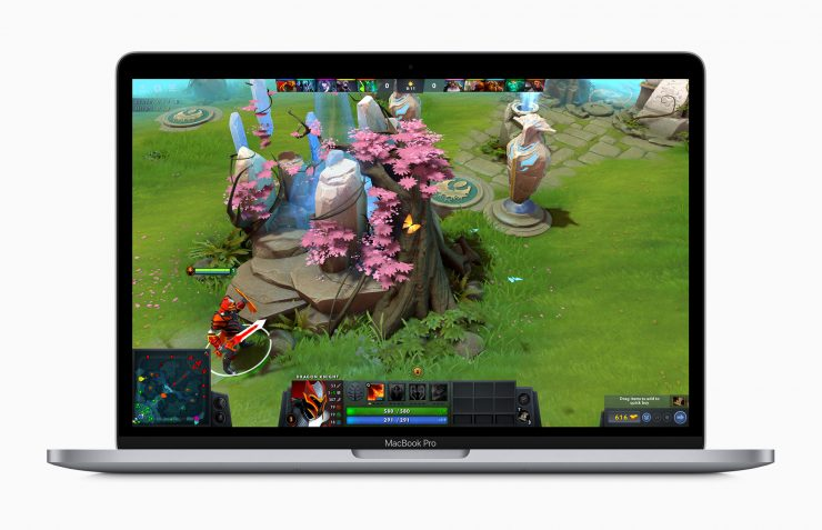 Apple macbook pro 13 inch with dota 2 game screen 05042020