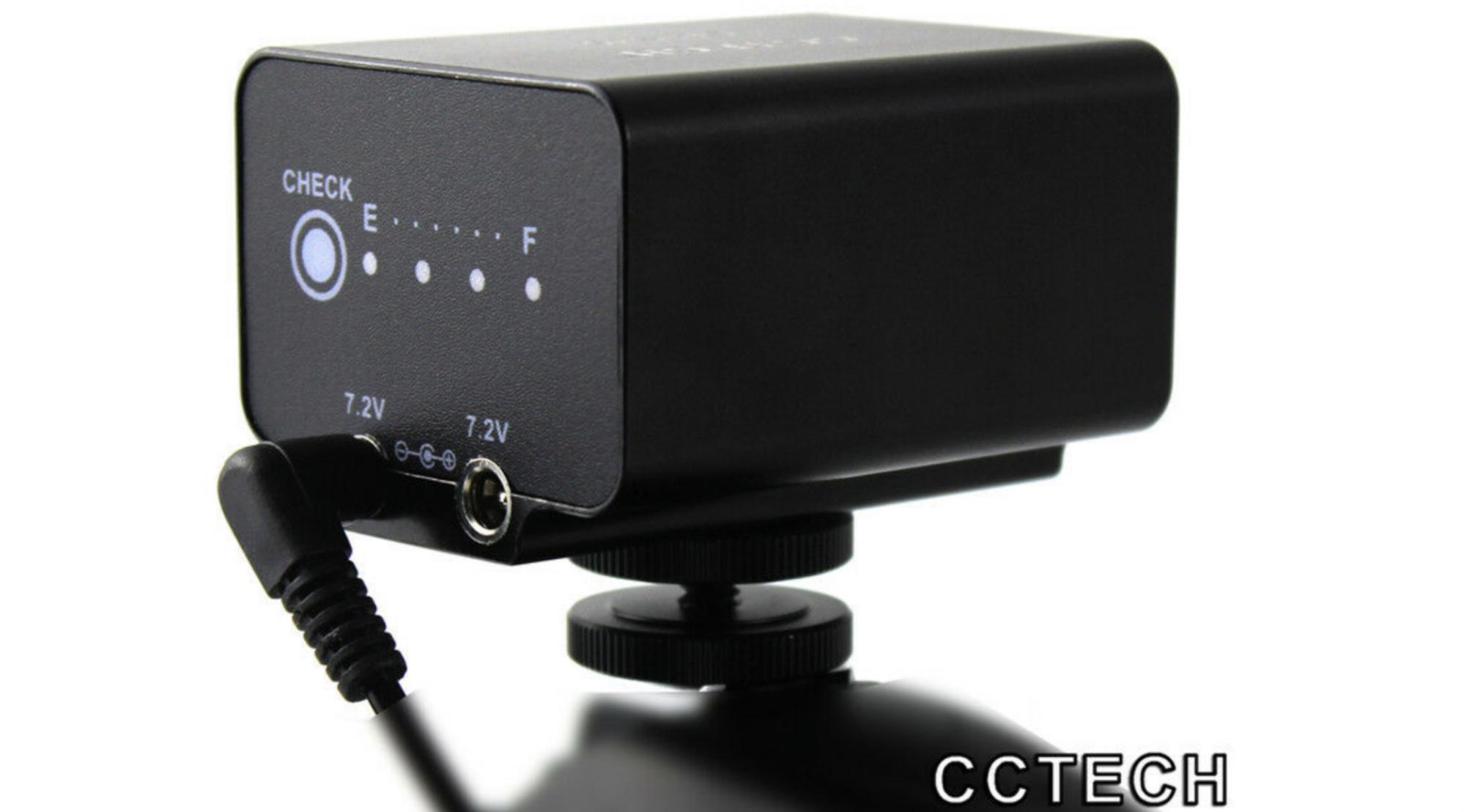CCTECH External Battery Power Supplies for Panasonic, BMPCC, Z Cam, Sony, Fujifilm & Canon