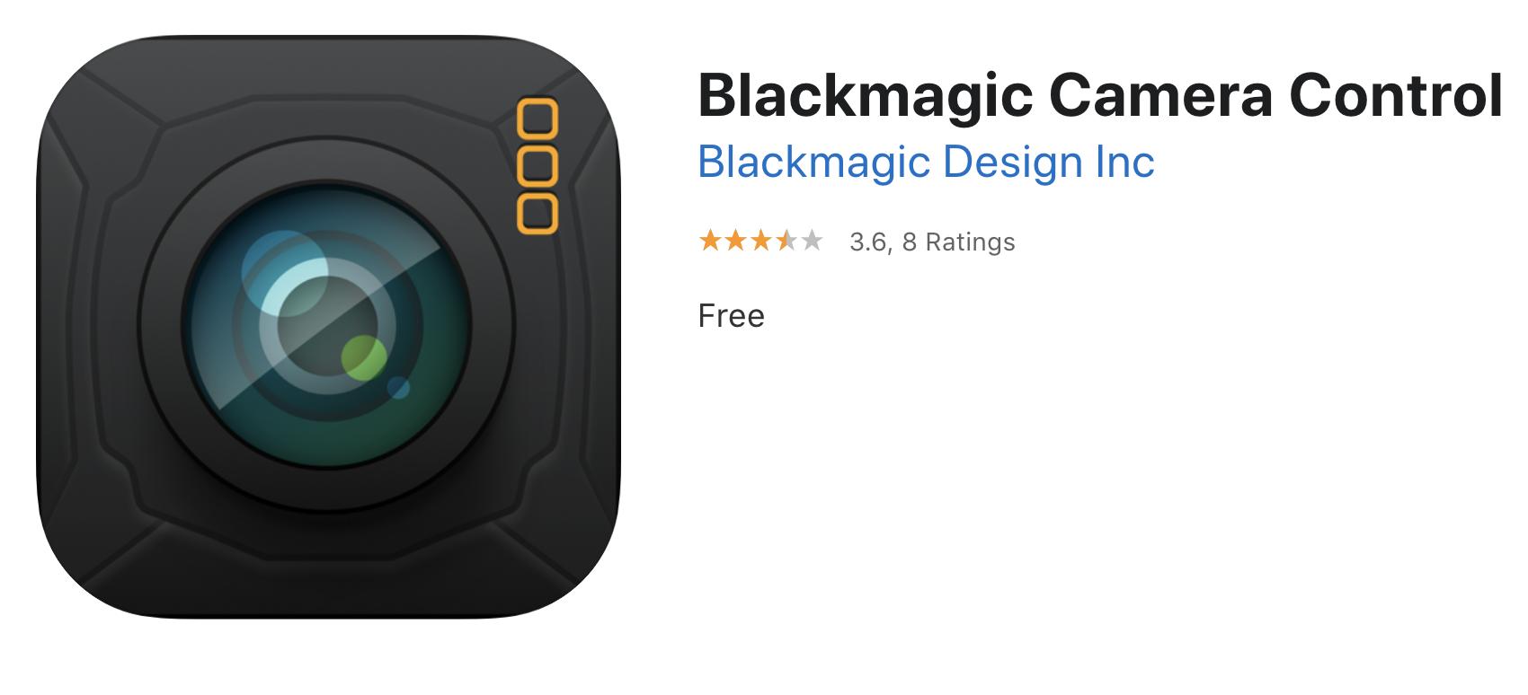 Blackmagic Camera Control 1 03 Update Newsshooter