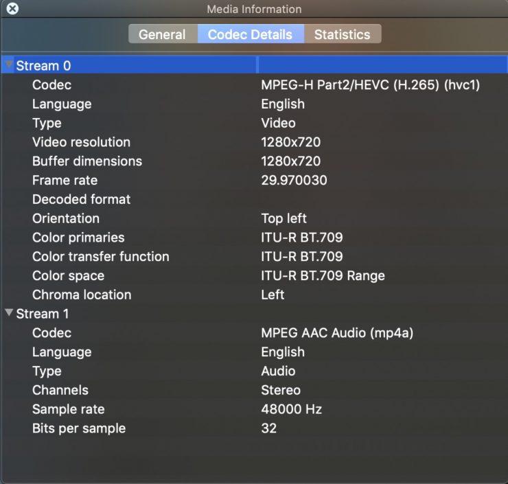 Z CAM VideoTranscoder Proxy file codec