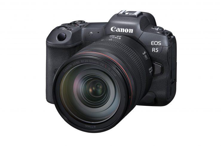 Canon EOS R5 FrontSlantLeft RF24 105mmF4LISUSM