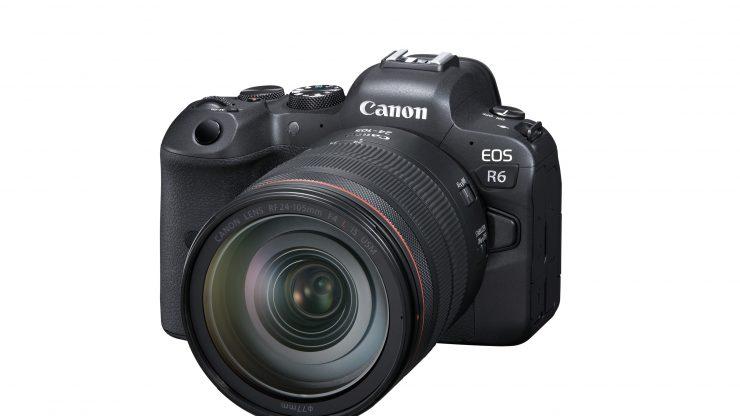 Canon EOS R6 FrontSlantLeft RF24 105mmF4LISUSM
