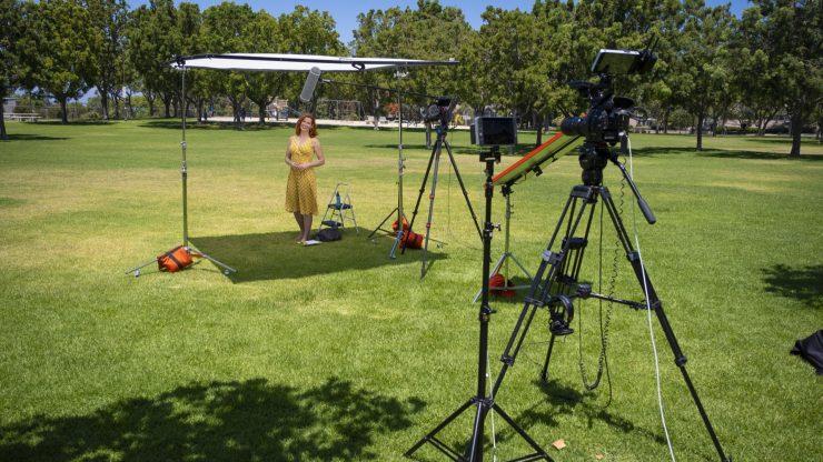 Dagmar on set in park copy