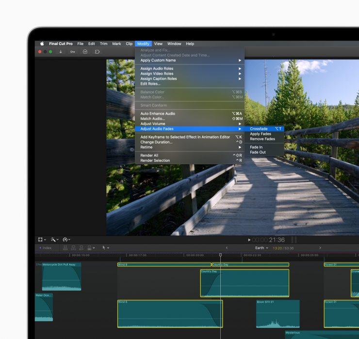 apple final cut pro update crossfade clips 08252020