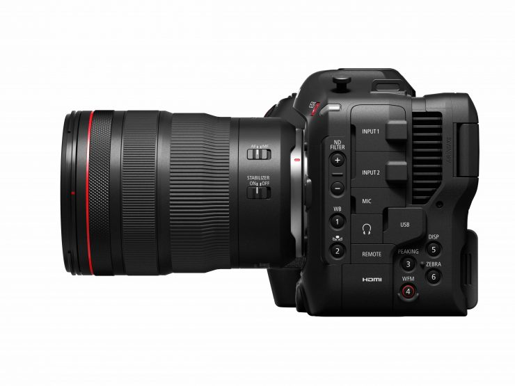 EOS C70 Left with RF 24 70mm f2 8 L IS USM