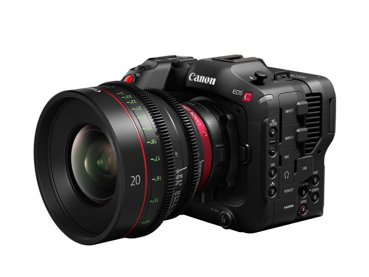 EOS C70 SlantLeft EOS C70 with adapter and EF 24 70mm f2 8L II USM
