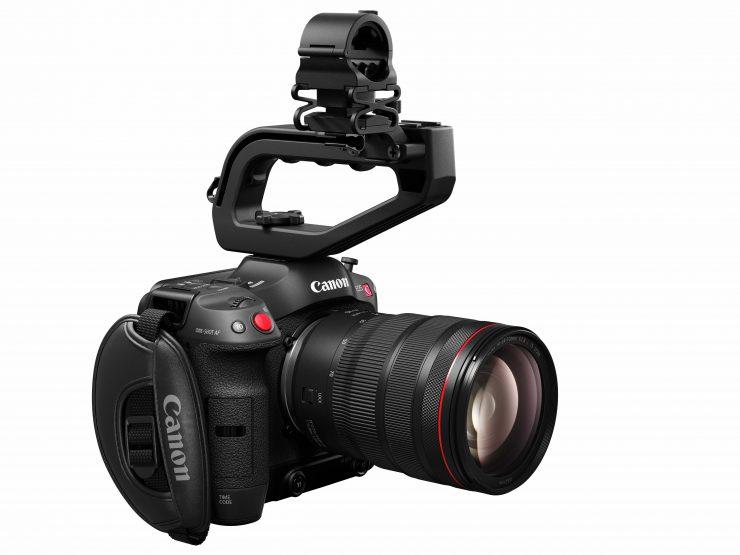 EOS C70 SlantRight with RF 24 70mm f2 8 L IS USM full