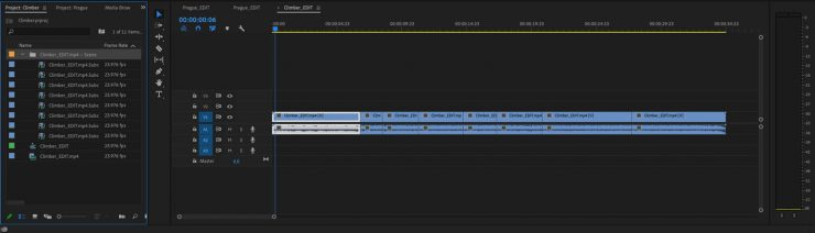PremierePro SceneEditDetection CutsAndBins