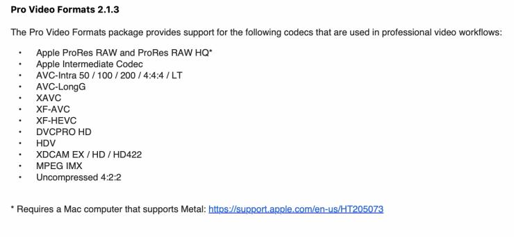 Apple ProRes Raw