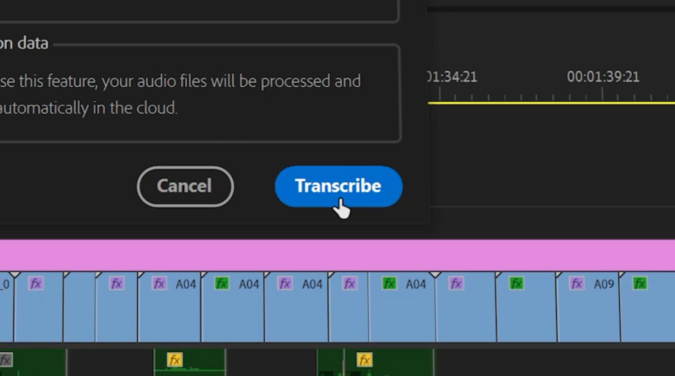 Adobe Premiere Pro Speech to Text