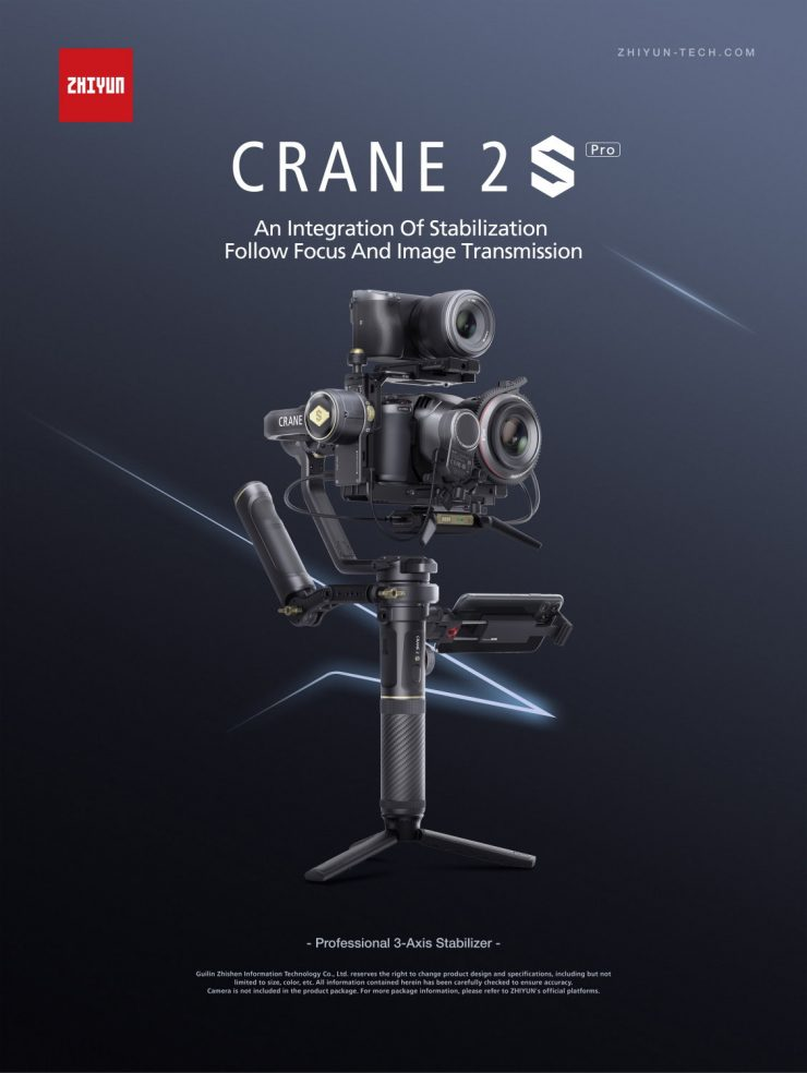 CRANE 2S Pro Package Poster EN