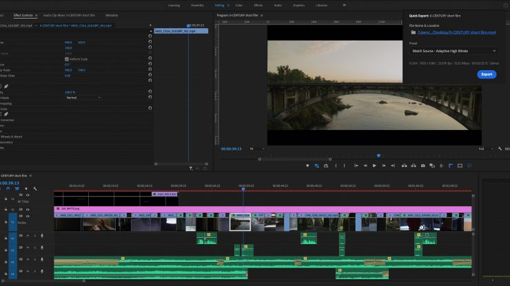 Premiere Pro Quick Export Dialog