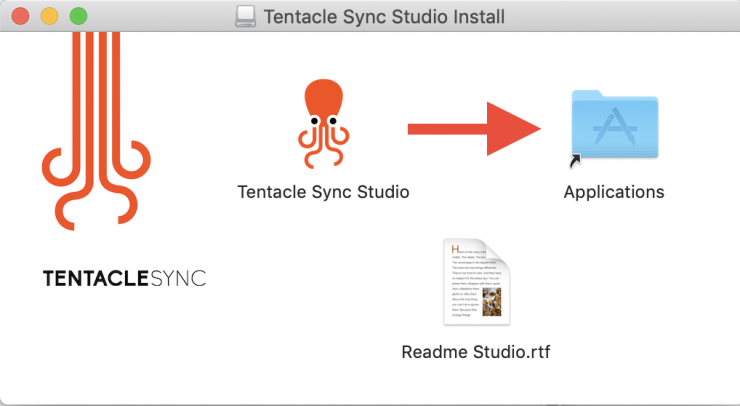 Tentacle Sync Studio Install OSX