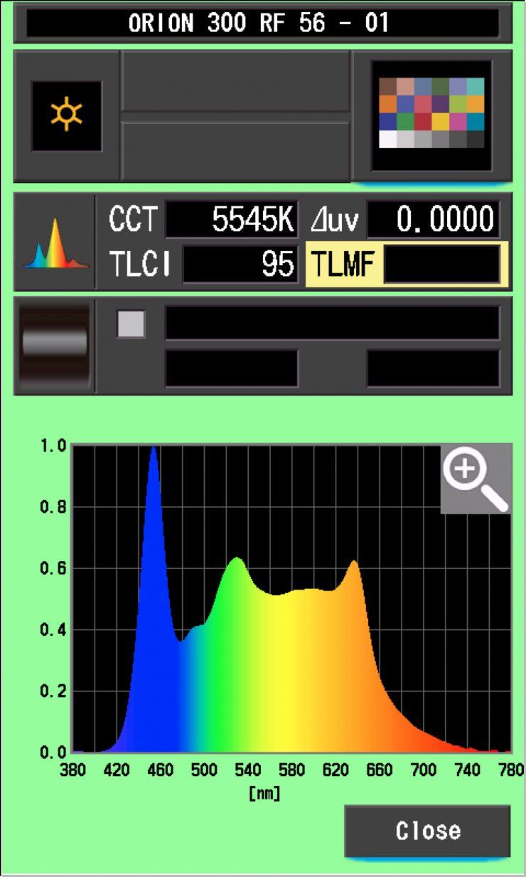 TLCI Orion 300 5600K