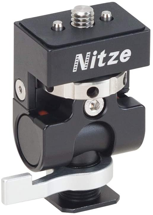 """Nitze Monitor Holder Mount ELF Series Low Profile QR Cold Shoe to 14"""" 20 Screw with Locating Pins N54 G1"""