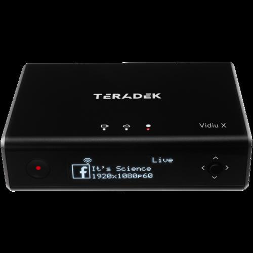 Teradek VidiU X ThreeQuarters HighAngle2 White BG 500x500