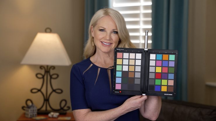 Bridget with color chart S Cinetone
