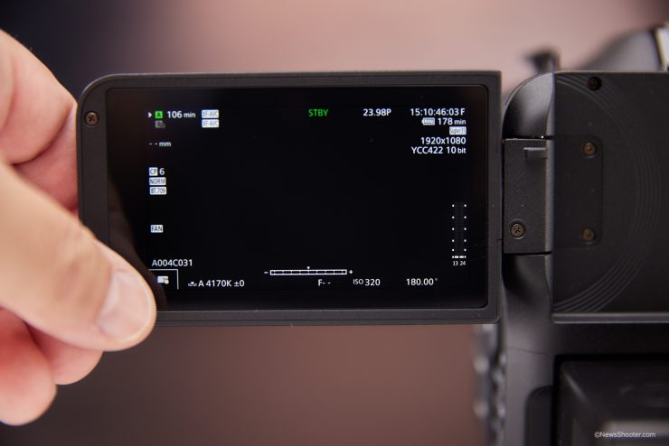 Canon C70 LCD touch shortcut