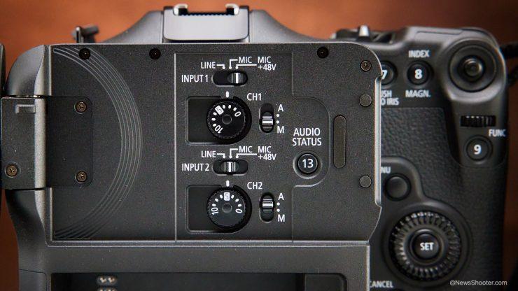 Canon C70 LCS Audio controls 2