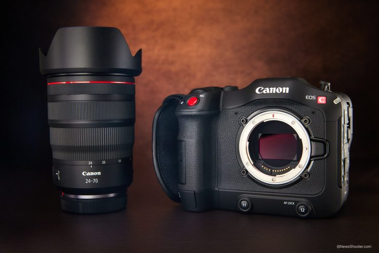Canon C70 RF Mount and 24 70 1