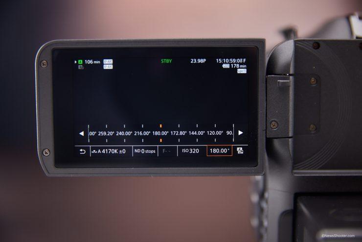 Canon C70 Shutter Angle