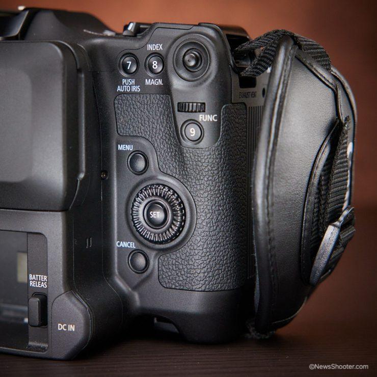 Canon C70 controls 2