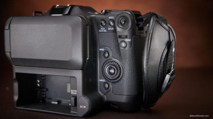 Canon C70 grip back
