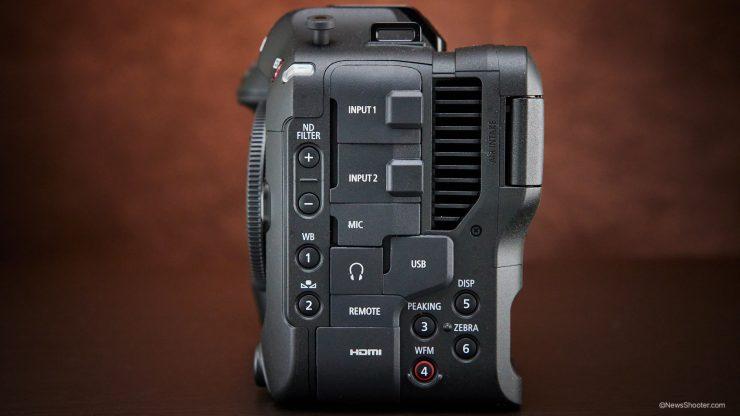 Canon C70 inputs