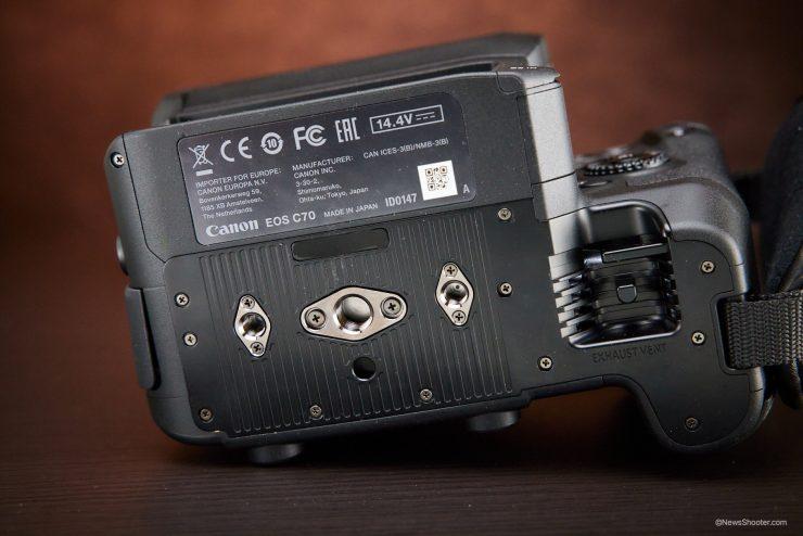 Canon C70 tripod mount