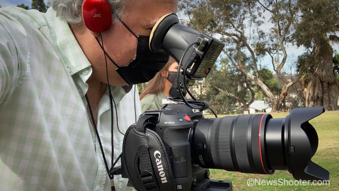 Canon C70 with EVF 2