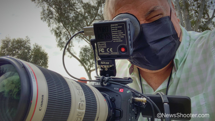 Canon C70 with EVF