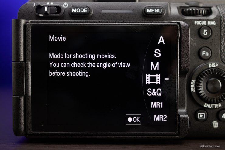 Sony FX3 Menu Movie Mode