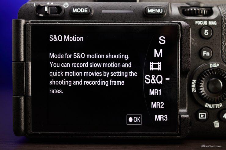 Sony FX3 Menu S Q Option