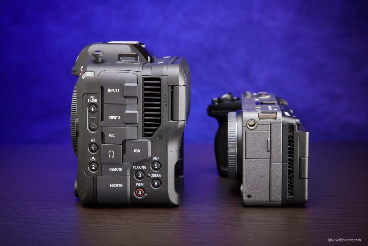 Sony FX3 Canon C70 side by side 2