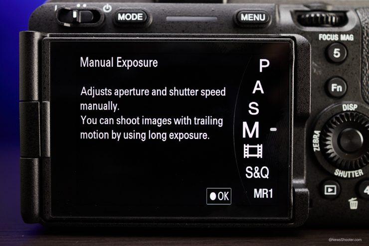 Sony FX3 MENU Mode