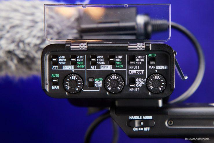 Sony FX3 MI Audio controls