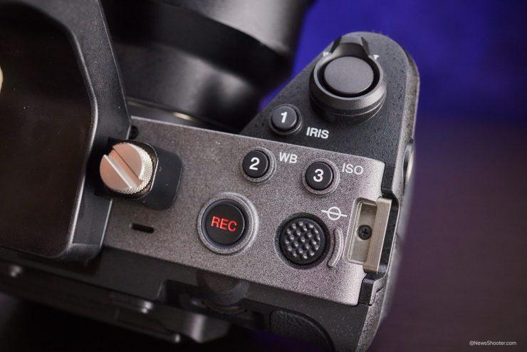 Sony FX3 grip side controls