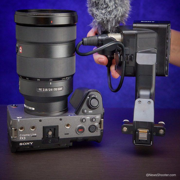 Sony FX3 handle MI